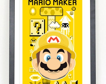 Super Mario Maker art print