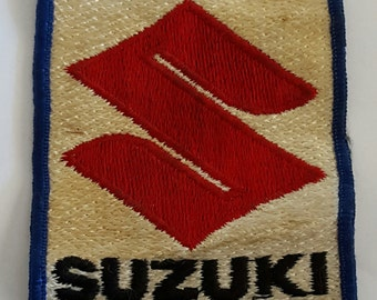 Vintage Motorcycle manufacturer patch, Suzuki  1960's  motocross, street racer, crotch rocket