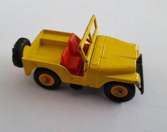 Vintage Matchbox Series No 72b1 Jeep, Made in England by Lesney