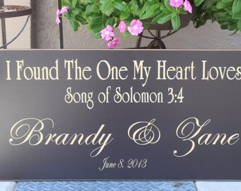 12x24 I Found the One My Heart Loves - Custom Name and Date
