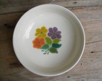 Franciscan Earthenware Floral Vegetable Bowl / 1970's Franciscan USA Floral Pattern / 9 inch Serving Bowl