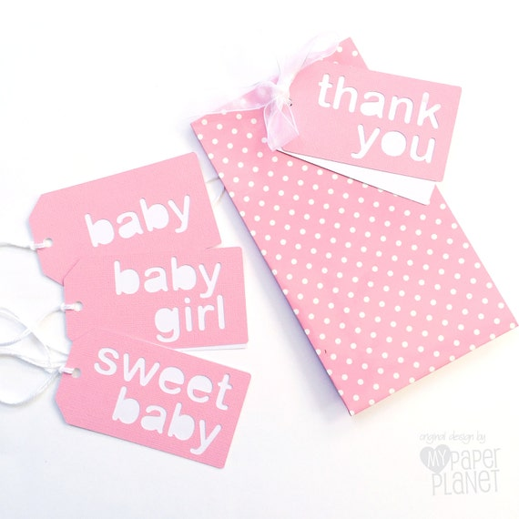 Etsy Australia Baby Gifts : Items similar to pretty pink baby shower gift tags