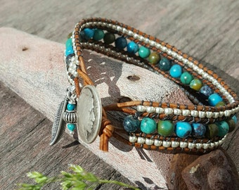 Turquoise, Leather Wrap