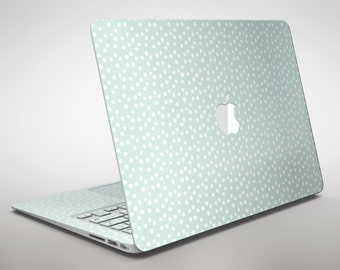 The Mint and White Micro Polka Dots - Apple MacBook Air or Pro Skin Decal Kit (All Versions Available)