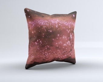 The Glowing Light Red Orbs of Light ink-Fuzed Decorative Throw Pillow