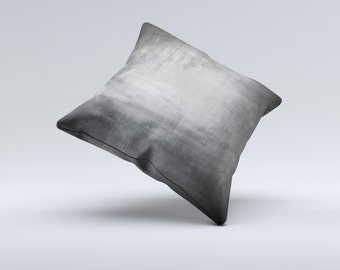 The Grungy Gray Panel Pillow  ink-Fuzed Decorative Throw Pillow