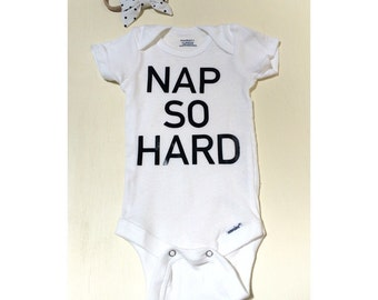 Nap so hard onesie, baby girl onesie, funny onesie, baby boy onesie, coming home outfit, napping bodysuit, hipster baby
