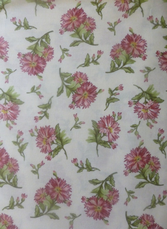 Graceful Momentscarnations Cotton Fabric Quilt Home