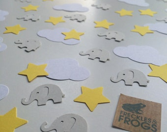 Elephants, Stars & Clouds Table Confetti Yellow - Baby Shower/Christening/Birthday