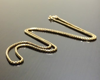 14K Yellow Gold Box Chain Necklace - 14K Yellow Gold Chain - 14K Gold Necklace - 14K Gold Box Chain - Yellow Gold Necklace - Gold Box Chain