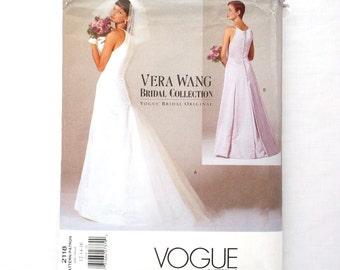 Vogue 2118 Vera Wang sewing pattern Bridal Collection wedding dress pattern size 16