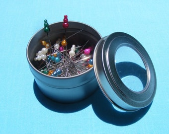 Dots of Fun Straight Pins in Tin (50 pins)