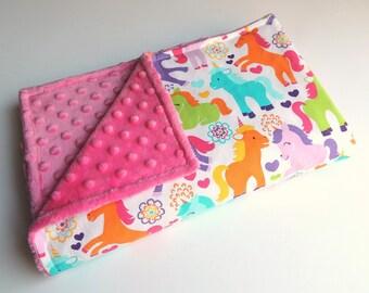 Unicorn Minky Blanket -MADE TO ORDER- Magic Unicorns Blanket - Minky Baby Blanket- Toddler Minky Blanket -Cot Blanket- Baby Blanket -Bedding
