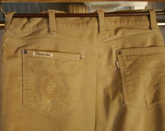 Fantastic Late 70's Levis Movin On Line Super Soft Cotton Flared Bottom Men's Pants Size 36/30 Near Perfect Condition!