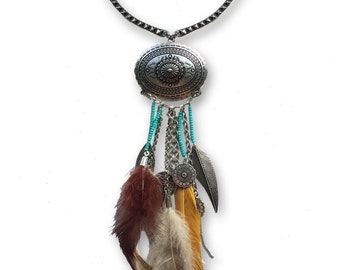 Feather Wrap Around Necklace