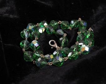 fabulous emerald lead crystal necklace by Swarovski