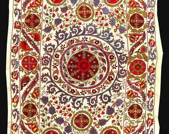 marvelous uzbek silk handmade embroidery bukhara suzani a7518