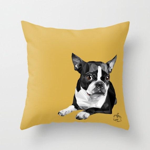 Home Decor Boston: Boston Terrier Home Decor Pillow Cover 18x18 Custom By