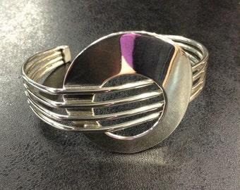 Sterling silver handmade bangle