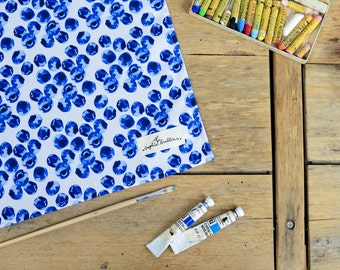Blueberry Print Cotton Tea Towel