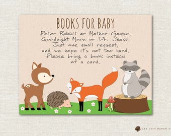 Woodland Books For Baby, Woodland Bring A Book Instead Of Card, Bring A Book