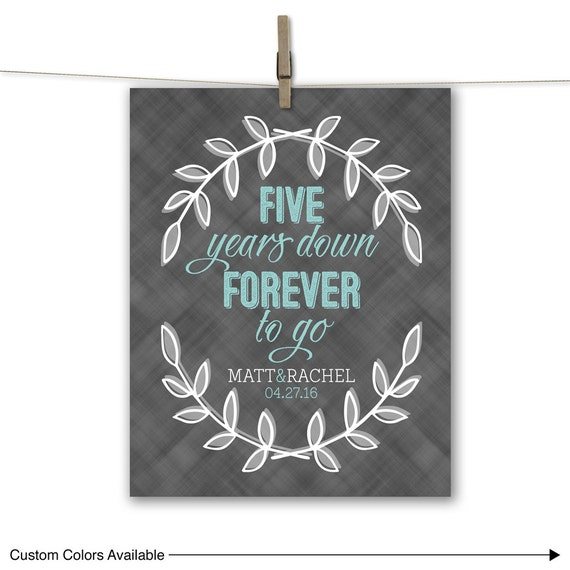 five 5 year wedding anniversary gift ideas for him her husband wife ...