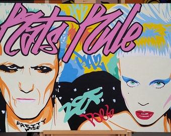 """Die Antwoord """"Rats Rule"""" Pop Art Graffiti Painting"""