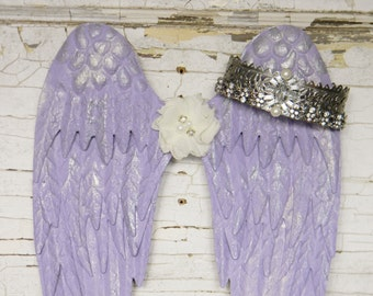 Angel Wings,Angel Wing Wall Decor,Metal Angel Wings,Angel Decor,Angel Wall Decor, Wings Wall Art,Nursery Wall Decor,Halo and Wings