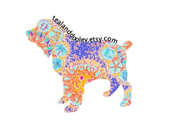 Lilly Pulitzer Inspired Boykin Spaniel Vinyl Decal