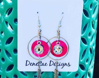 Pinky pink shell earrings