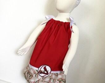 St Louis Cardinals MLB pillowcase dress