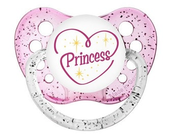 Princess Pacifier - Princess Binky - Sparkle Baby Soother - Baby Princess Dummy - Baby Princess Gift - Gift for Baby - Unique Baby Gift