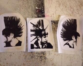 Punk Stickers Set of Seven ///