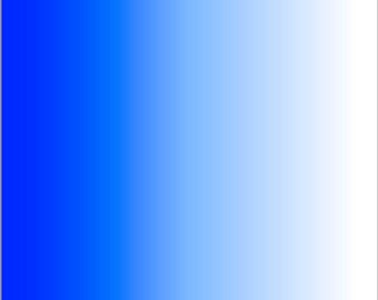 Blue and white Ombre print craft  vinyl sheet - HTV or Adhesive Vinyl -  fade gradient print vinyl  HTV3107