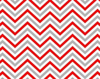 Red white and gray chevron craft  vinyl sheet - HTV or Adhesive Vinyl -  zig zag pattern