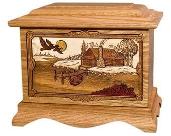 Oak Cabin Ambassador Wood Cremation Urn