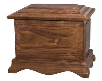 Walnut Cambridge Wood Cremation Urn