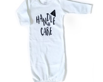 Handle with Care, Coming Home Outfit, Baby Boy Outfit, Baby Girl Outfit, Newborn Photo Prop, Baby Shower Gift Boy, Baby Shower Gift Girl