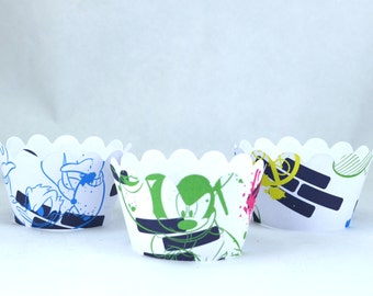 Mickey Blue Cupcake Wrappers