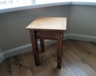 Handmade Rustic End Table, Side Table