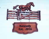 Horse Family Name Sign ~ ...
