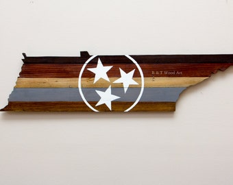 State of Tennessee wood sign TriStar Tennessee Wall art 3ft