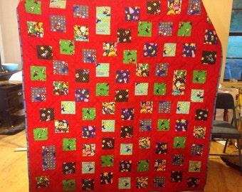 Handmade super mario quilt | Etsy : mario quilt - Adamdwight.com