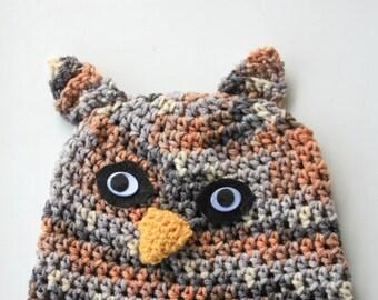 Owl Handmade Infant/Toddler/Child Hat