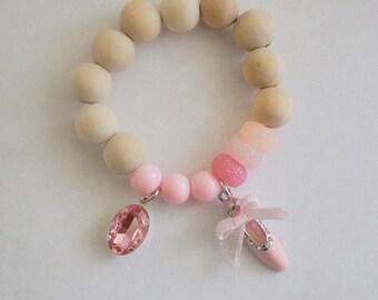 Ballet slipper Charm bracelet child bracelet Ballet