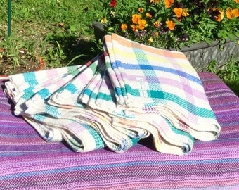 Bright Striped Handwoven kitchen towels