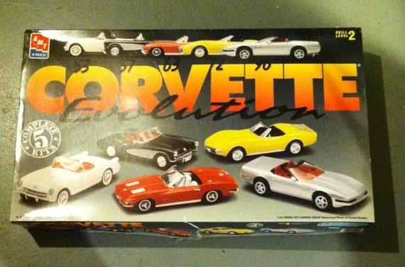 Vintage Model Car Kit by AMT/ERTL; 1995/Corvette Evolution
