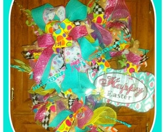 Grapevine Happy Easter  Wreath
