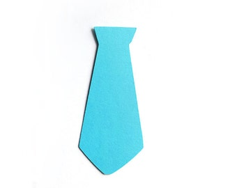 Necktie Die Cuts, Necktie Cutouts, Necktie Cut Outs (Set of 30)