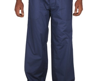 Mens CottonBeach wedding  Drawstring Baggy  Pants, regular and plus size.